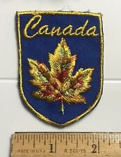 CANADA Canadian Gold Maple Leaf Souvenir Embroidered Patch Badge