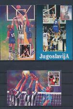 XC45947 Yugoslavia 2001 sports basketball maxicards used