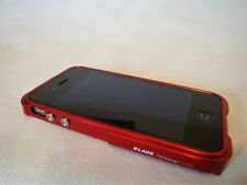 Apple iPhone 4 4S  hülle Etui BLADE by Tiger Desig Metall Alu Bumper Rot NEU