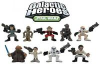 Star Wars Galactic Heroes Set of 9 Mini Figures Cake Toppers Set Toy Lot Bundle
