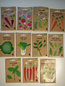 Vegetable Seeds Mixed Bundle 11 packs of vegetables. Fill your garden in 1 order