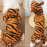Pet Clothes Small Dogs Tiger Hooded Costume Winter Fleece Warm Puppy Coat Jacket