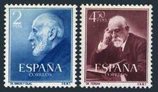 Spanien 793-794, Hinged.mi 1011-1012. Santiago Ramon Y Cajal ; Jaime Ferran Clua