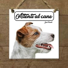 Jack Russell Terrier MOD 3 Attenti al cane Targa cane cartello ceramic tiles