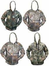Mens Camouflage Jungle Forest Tree Print Fleece Hoodie Hooded Top Jumpers M-5XL