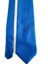 Valentino cravatta vintage  colore  azzurro 100% seta made Italy