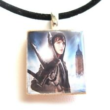 Percy Jackson Trident Scrabble Tile Pendant Necklace