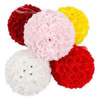 Wedding Flower Ball Silk Party Home Holiday Decoration Flower Kissing Ball Silk