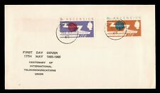 DR WHO 1965 ASCENSION FDC CENTENARY INTL TELECOMMUNICATIONS UNION C236014