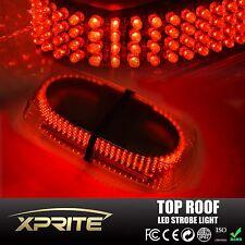 240 LED 12V Emergency Hazard Roof Top Strobe Light Bar w/Magnetic base RED