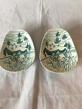 Nymolle Art FAIENCE Hoyrup Denmark pottery limited edition Nut dishe set of 2