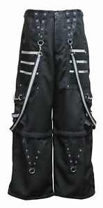 Dead Threads - Black Men's Trouser with Blue Stitching and Metal Rivets