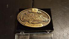 Vintage 1994 John Deere Bronze Level Certification Farm Tractor Belt Buckle