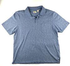 Haggar Clothing Shirt Adult Extra Large XL Mens Blue Casual Polo