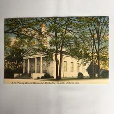 Young Harris Memorial Methodist Church Athens Georgia Unposted Postcard