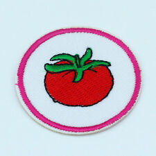2PCS tomato Embroidered Iron on Patches Badge Cartoon applique Cute Tag Kids