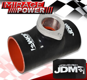 """JDM Sports Car Turbo Blow Off Valve Type S/Rs 2-Bolt Silicone Adapter 2.5"""" Black"""