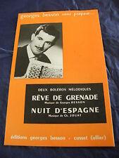 sogni di partizione di grenade Notte d'Espagne Georges Besson Boleri