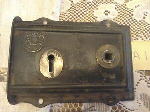 Vintage Rim Lock with brass escutcheon
