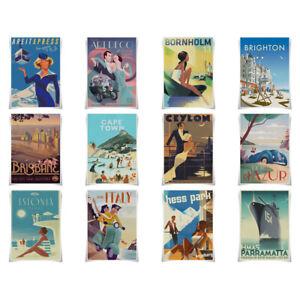 Retro Style Travel Poster Tourism A3 Prints Wall Art Home Decor A3 Prints