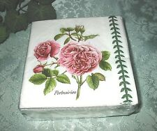 40 Portmeirion Pink Rose Napkins Beverage Paper Cocktail ~ 3 Ply CR Gibson