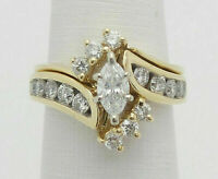 2.50 Carat Marquise Cut Diamond Women's Engagement Ring 14K Yellow Gold