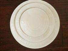 NEW BERNARDAUD NAXOS WHITE DINNER PLATE SALAD PLATE & SAUCER