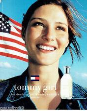 PUBLICITE ADVERTISING 125  2002  TOMMY GIRL parfum femme TOMMY HILFIGER