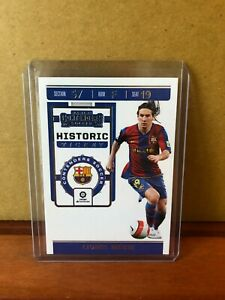 2019-20 Panini Chronicles Contenders Soccer Historic Ticket Lionel Messi - B