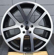 24'' SRT 10 Wheels Black Mchine Tires Chrysler 300 Charger Magnum Challenger