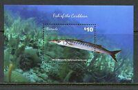 GRENADA  2015 FISH OF THE CARIBBEAN SOUVENIR SHEET MINT NEVER HINGED