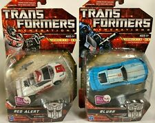 MOSC Transformers Generations Red Alert AND Blur G1 lot Deluxe size