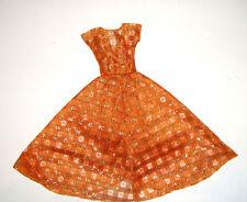 Barbie Fashion Burnt Orange & Sparkly Gold Coat Dress Repro For Barbie Dolls rp4