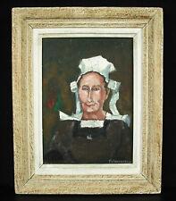 Fernand JEANNEAU c1930 Bretonne Paysanne du Finistère costume de deuil Bretagne