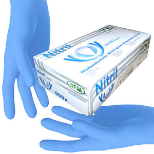 SFM ® SOFTLIGHTS : Blau Nitrilhandschuhe Einweghandschuhe Einmalhandschuhe