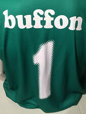Gianluigi Gigi Buffon Italia Italy Green Football Soccer #1 Jersey XL Goalkeeper