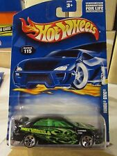 Hot Wheels Honda Civic #115 Black w/plastic string wrapped around tire