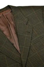 Enrico ISAIA Napoli Jacket 42R 52R Brown Plaid Blazer Hand Made Neaopolitan Wool