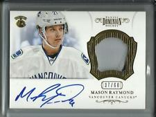 Mason Raymond 12/13 Panini Dominion Autograph Game Used Jersey Patch #37/60