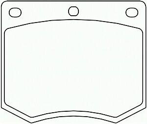 Mintex Ford Capri Cortina M16 Caliper Brake Pads MGB633M1155