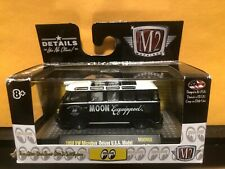 1/64 M2 MOON EYES 1959 VOLKSWAGEN VW MICROBUS USA MODEL BLACK AND WHITE CLEAN