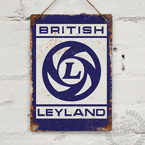 British Leyland Replica Vintage Metal Wall sign Retro Garage Shed Racing Austin