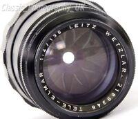 Tele-Elmar 1:4/135mm LEICA-M Telephoto Lens by Ernst LEITZ Wetzlar Made in 1966
