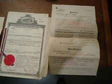 Confederate Veteran Zachariah Fleming Jones & Son Patents & Misc Papers