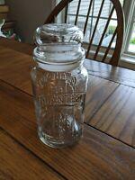PLANTERS PEANUTS MR PEANUT GLASS JAR W/LID