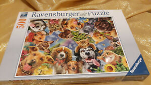 """Ravensburger Puzzle """"Funny Animal Selfie"""" 500 pc 15042-New, sealed 19.3x14.25in"""