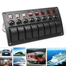 8 velocidades coche barco marino circuito panel del interruptor basculante LED