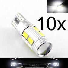 10 Lampade xenon LED T10 HID 6 SMD 5630 Canbus NO ERRORE BIANCO Posizione W5W