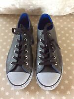 CONVERSE All Stars Grey Leather Style Trainers Shoes Size UK5 Low Tops