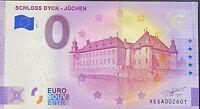BILLET 0  EURO SCHLOSS DYCK JUCHEN ANNIVERSARY  ALLEMAGNE 2021 NUMERO 2601
